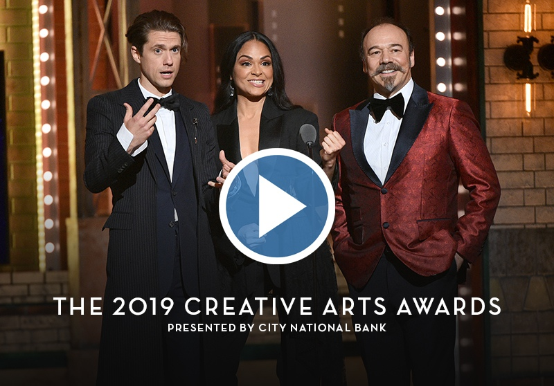 The Creative Arts Awards at the 2019 Tony Awards, hosted by Aaron Tveit, Karen Olivo, and Danny Burstein. Click to watch.