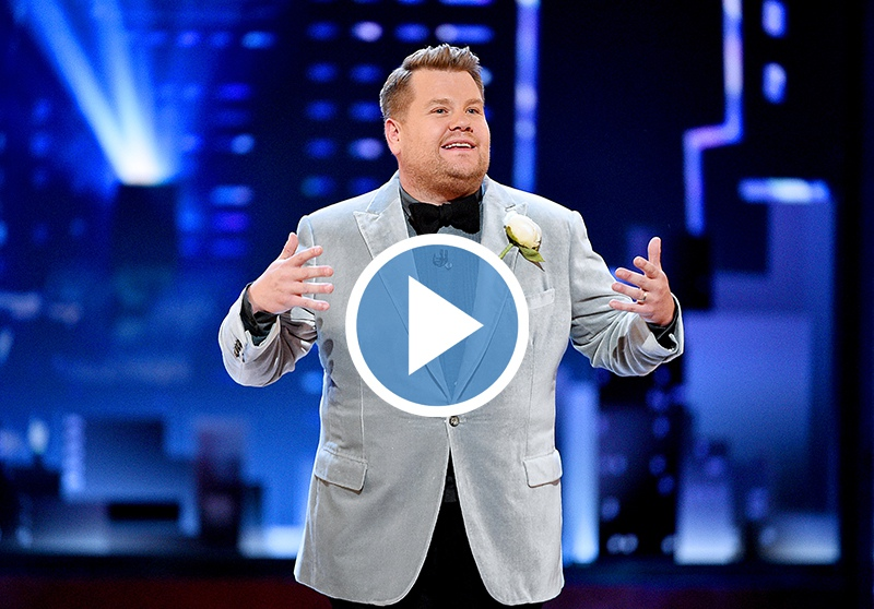 James Corden at the Tony Awards - click to watch