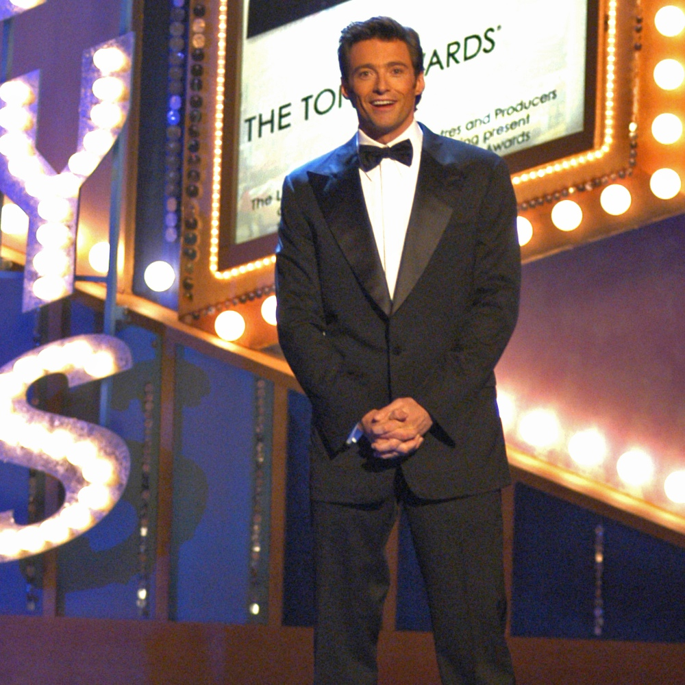 Host Hugh Jackman at the 2004 Tony Awards.