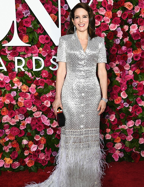 Tina Fay on the Red Carpet presented by Nordstrom at the 2018 Tony Awards