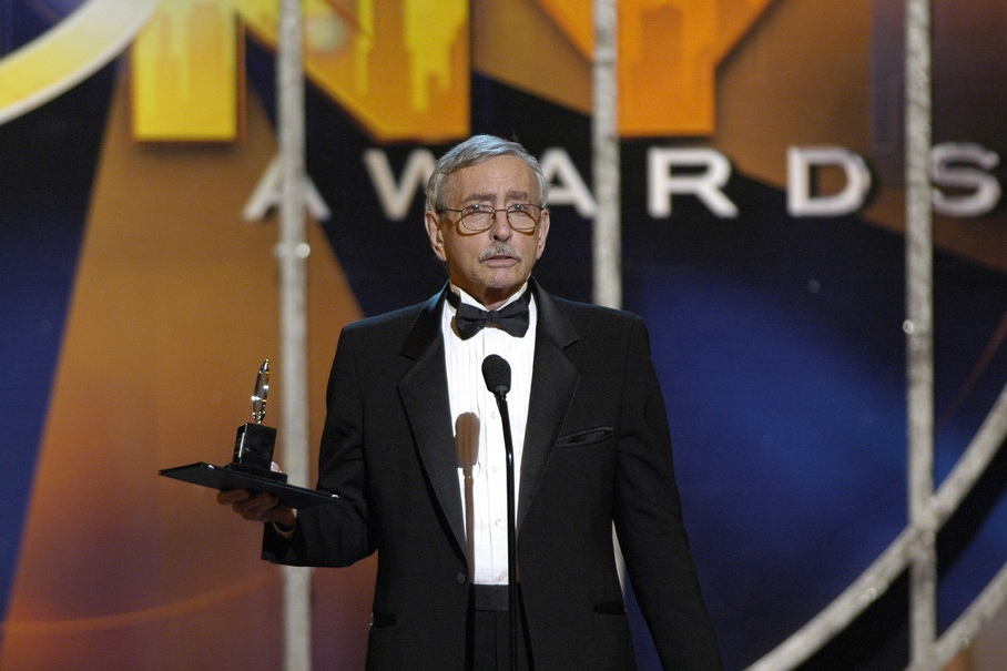 Playwright Edward Albee, recipient of a Special Tony Award for Lifetime Achievement in the Theatre in 2005, at that year's Tony Awards ceremony.