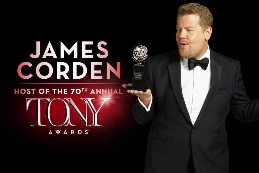 James Corden will host the 70th Annual Tony Awards on Sunday, June 12, on CBS.