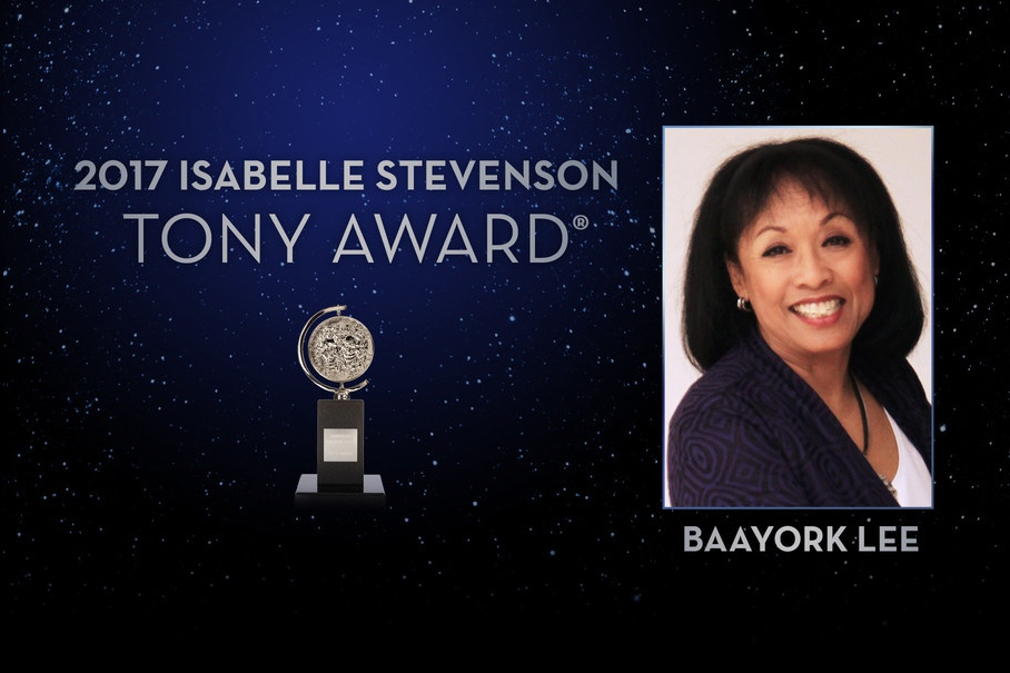 Baayork Lee is the 2017 recipient of the Isabelle Stevenson Tony Award.