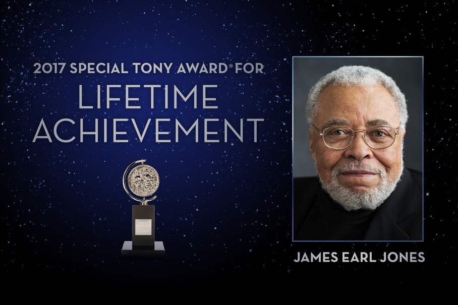 James Earl Jones is a 2017 recipient of a Special Tony Award for Lifetime Achievement in the Theatre.