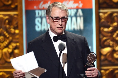 Mike Nichols accepting a 2012 Tony Award for Best Direction of a Play for Arthur Miller's Death of a Salesman.