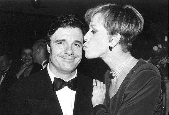 Host Nathan Lane and Carol Burnett at the 1996 Tony Awards.