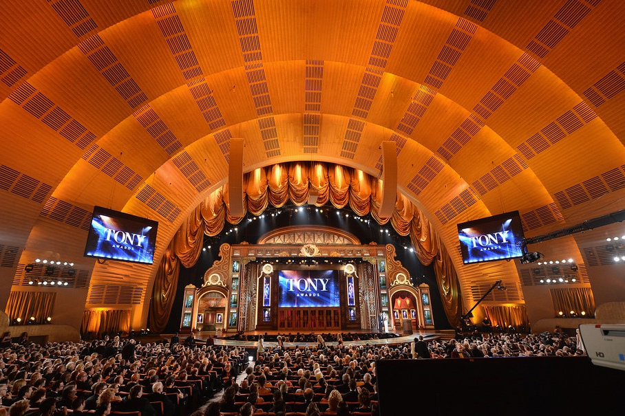 Radio City Music Hall, home of the Tony Awards telecast on CBS.
