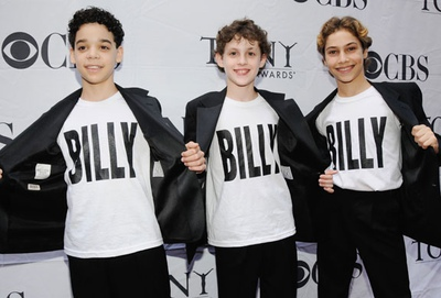 Tony Award-winners Kiril Kulish, David Alvarez, Trent Kowalik (l. to r.), honored jointly for their performances in <i>Billy Elliot The Musical</i> at the 2009 Tony Awards.