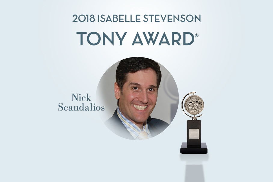 Nick Scandalios, recipient of the 2018 Isabelle Stevenson Tony Award, honored for his outstanding dedication to family equality.