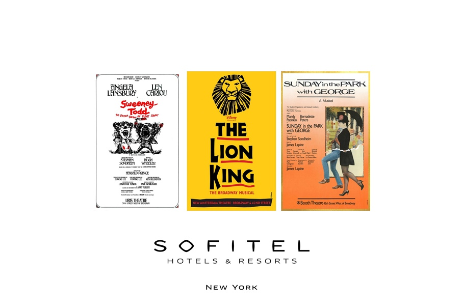 "Through June 30, theatergoers and art lovers alike can view works by theatre poster legend Frank ""Fraver"" Verlizzo in celebration of the Tony Awards. Sofitel New York is located at 45 West 44th Street in Manhattan."