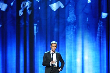 Host Neil Patrick Harris in the closing number of the 2012 Tony Awards telecast.