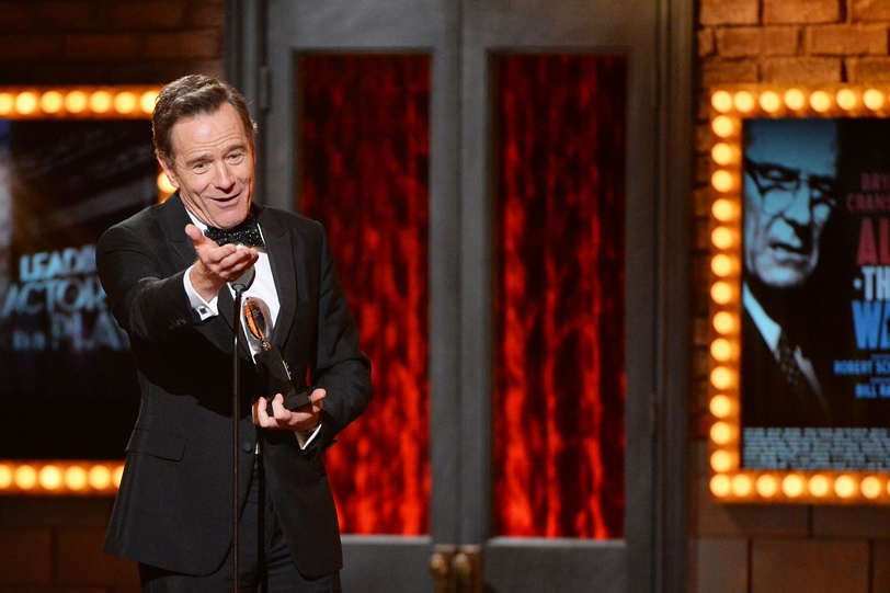Tony winner Bryan Cranston accepts the award for Best Performance by an Actor in a Leading Role in a Play for 'All The Way' onstage during the 68th Annual Tony Awards at Radio City Music Hall on June 8, 2014 in New York City.