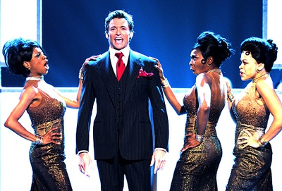 Host Hugh Jackman in the opening number of the 2004 Tony Awards telecast.