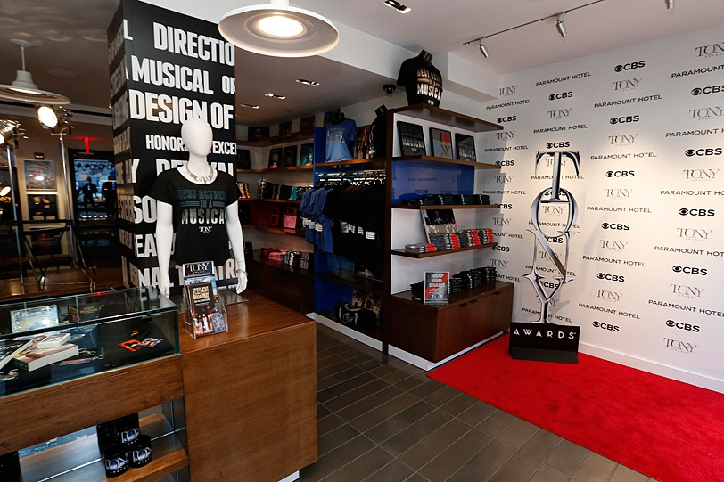The 2014 Tony Awards Pop Up Shop at the Paramount Hotel in New York City. The 2015 Shop is open from April 2 - June 7.