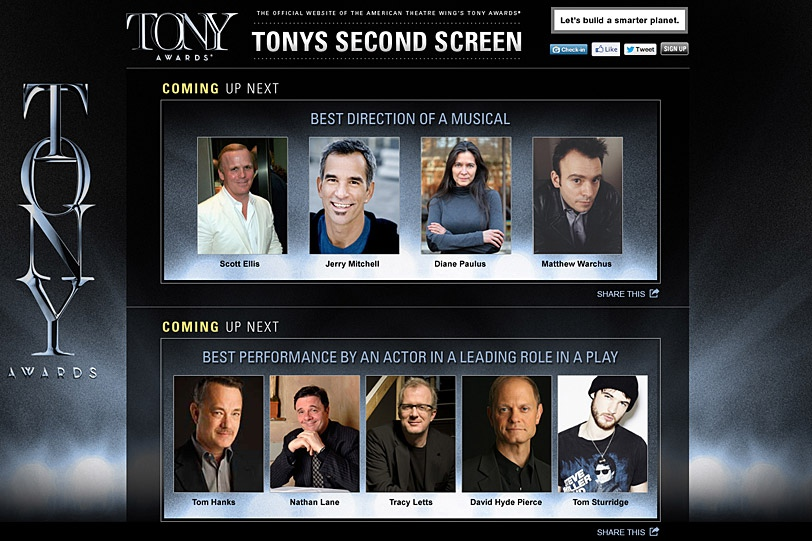 The Tonys Second Screen