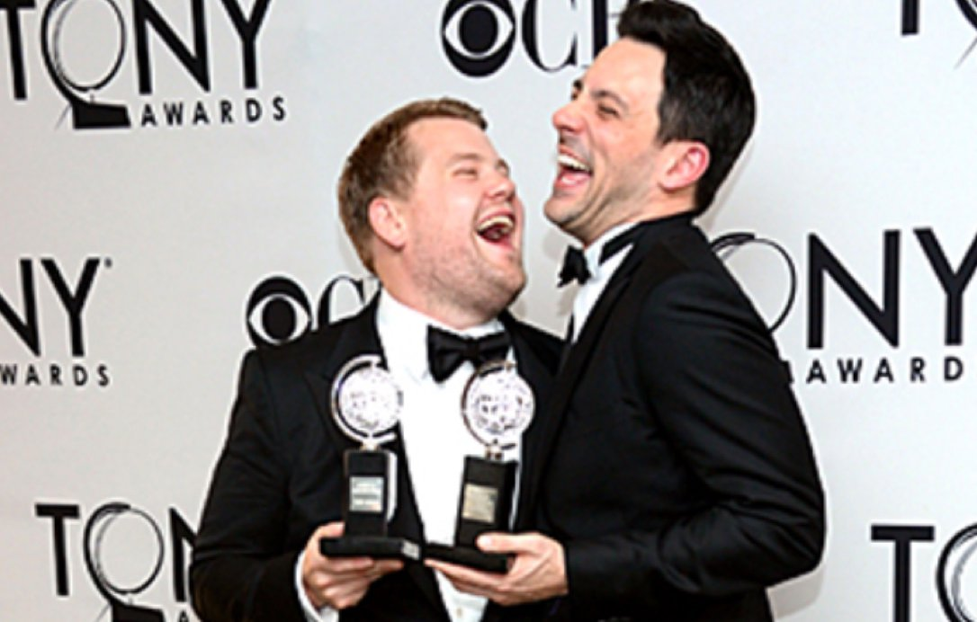 2012 Tony-winners James Corden and Steve Kazee.